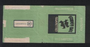 Japan Collectible cigarette packet label bats very old   #643